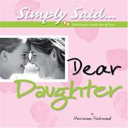 Cover of: Dear Daughter (Simply Said) | Marianne R. Richmond