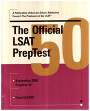 Cover of: The Official LSAT PrepTest 50 | Law School Admission Council; Inc