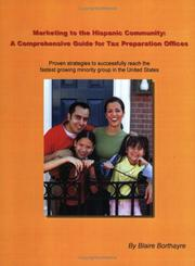 Cover of: Marketing to the Hispanic Community | Blaire Borthayre
