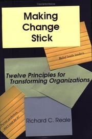 Cover of: Making Change Stick | Richard C. Reale