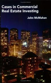 Cover of: Cases in Commercial Real Estate Investing by John McMahan