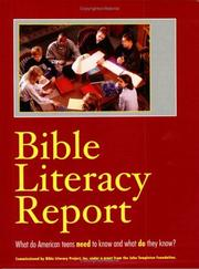 Cover of: Bible Literacy Report | Marie Wachlin