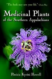 Cover of: Medicinal Plants of the Southern Appalachians | Patricia, Kyritsi Howell