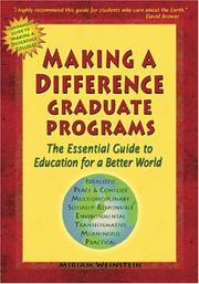 Cover of: Making a Difference Graduate Programs | Miriam Weinstein