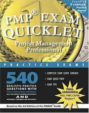 Cover of: PMP Exam Quicklet | Paul Sanghera