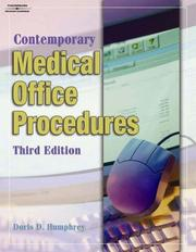 Cover of: Student Workbook To Accompany Contemporary Medical Office Procedures | Doris D. Humphrey