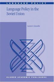 Cover of: Language policy in the Soviet Union by Lenore A. Grenoble