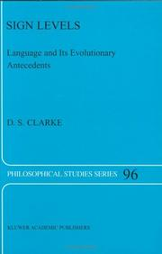 Cover of: Sign levels | D. S. Clarke