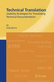 Cover of: Technical Translation by Jody Byrne