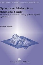 Cover of: Optimization Methods for a Stakeholder Society by W.K. Brauers