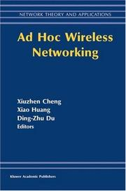 Cover of: Ad hoc wireless networking | Dingzhu Du