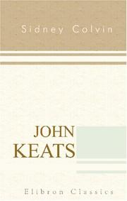 Cover of: John Keats | Sidney Colvin