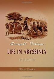 Cover of: Life in Abyssinia | Mansfield Parkyns