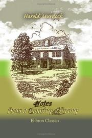 Cover of: Notes from a Country Library by Harold Murdock