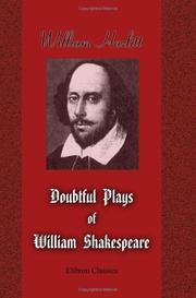 Cover of: The Doubtful Plays Of William Shakespeare | William Hazlitt