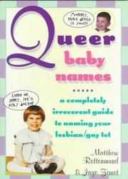 Cover of: Queer baby names | Matthew Rettenmund