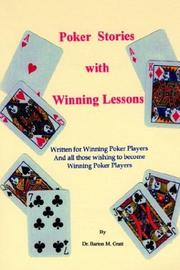 Cover of: Poker Stories with Winning Lessons by Dr Barton M. Gratt
