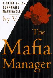 Cover of: The Mafia Manager | V.