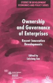 Cover of: Ownership and Governance of Enterprises | Laixiang Sun