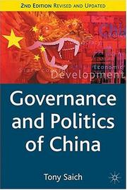 Cover of: Governance and politics of China | Tony Saich