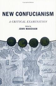 Cover of: New Confucianism | John Makeham