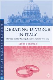 Cover of: Debating Divorce in Italy | Mark Seymour
