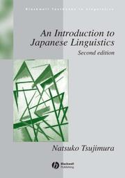 Cover of: An Introduction to Japanese Linguistics by Natsuko Tsujimura