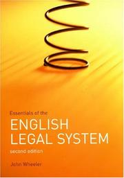 Cover of: Essentials of the English Legal System | John Wheeler
