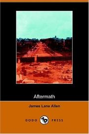 Cover of: Aftermath | James Lane Allen