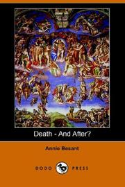 Cover of: Death - And After? | Annie Wood Besant