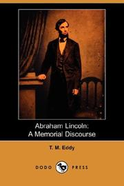 Cover of: Abraham Lincoln by T. M. Eddy