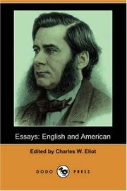 Cover of: Essays | Charles W. Eliot