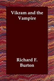 Cover of: Vikram and the Vampire | Burton, Richard Sir