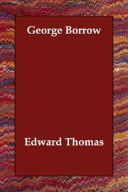 Cover of: George Borrow | Edward Thomas
