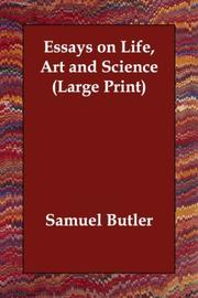 Cover of: Essays on Life, Art and Science | Samuel Butler
