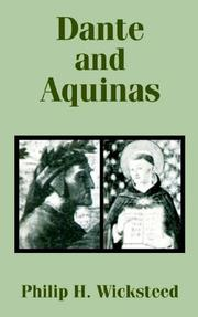 Cover of: Dante and Aquinas | Philip H. Wicksteed