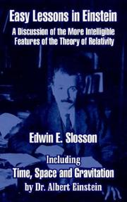 Cover of: Easy Lessons in Einstein | Edwin E. Slosson