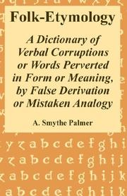 Cover of: Folk-Etymology by A. Smythe Palmer