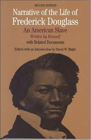 Cover of: Narrative of the Life of Frederick Douglass by Frederick Douglass