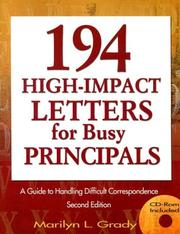 Cover of: 194 High-Impact Letters for Busy Principals by Marilyn L. Grady