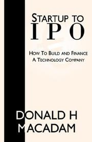 Cover of: Startup To IPO | Donald H MacAdam