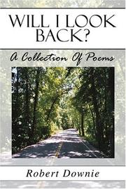 Cover of: Will I Look Back? | Robert Downie
