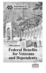 Cover of: Federal Benefits for Veterans and Dependents | U. s. Veterans Administration