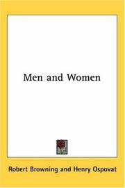 Cover of: Men and Women | Robert Browning