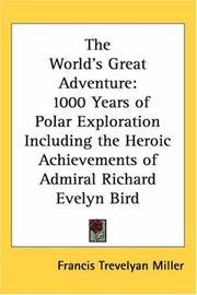 Cover of: The World's Great Adventure | Francis Trevelyan Miller