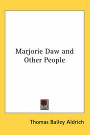 Cover of: Marjorie Daw and Other People | Thomas Bailey Aldrich