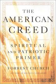 Cover of: The American Creed by Forrest Church