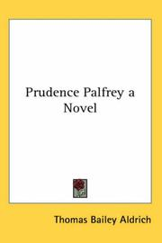 Cover of: Prudence Palfrey | Thomas Bailey Aldrich