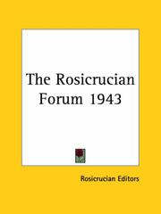 Cover of: The Rosicrucian Forum 1943 | Rosicrucian