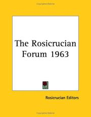 Cover of: The Rosicrucian Forum 1963 | Rosicrucian
